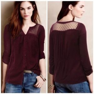 $88 Anthropologie Meadow Rue Tavia Peasant Top